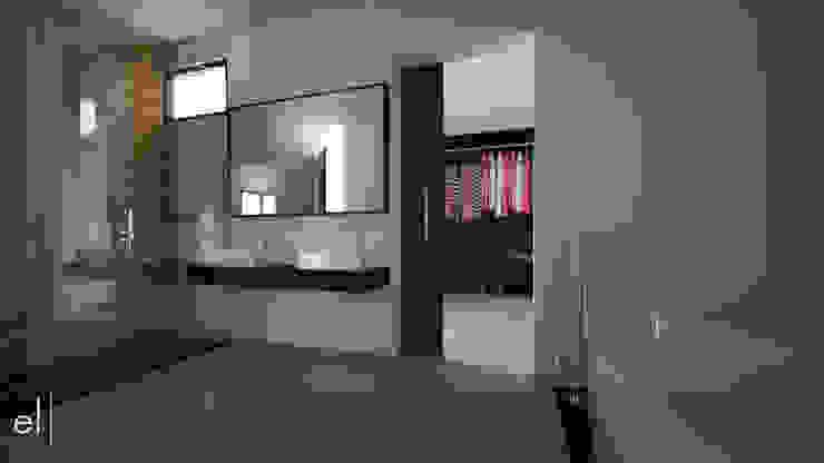 Casa San Quintin Baños modernos de ERIKA LIN Moderno Madera Acabado en madera