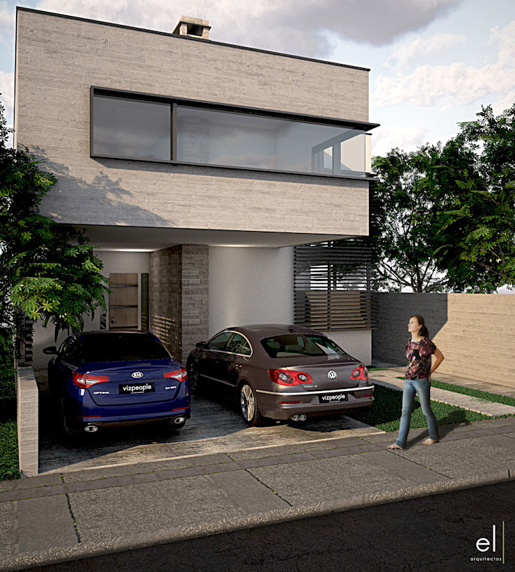 Casa Zibata Casas modernas de ERIKA LIN Moderno Piedra