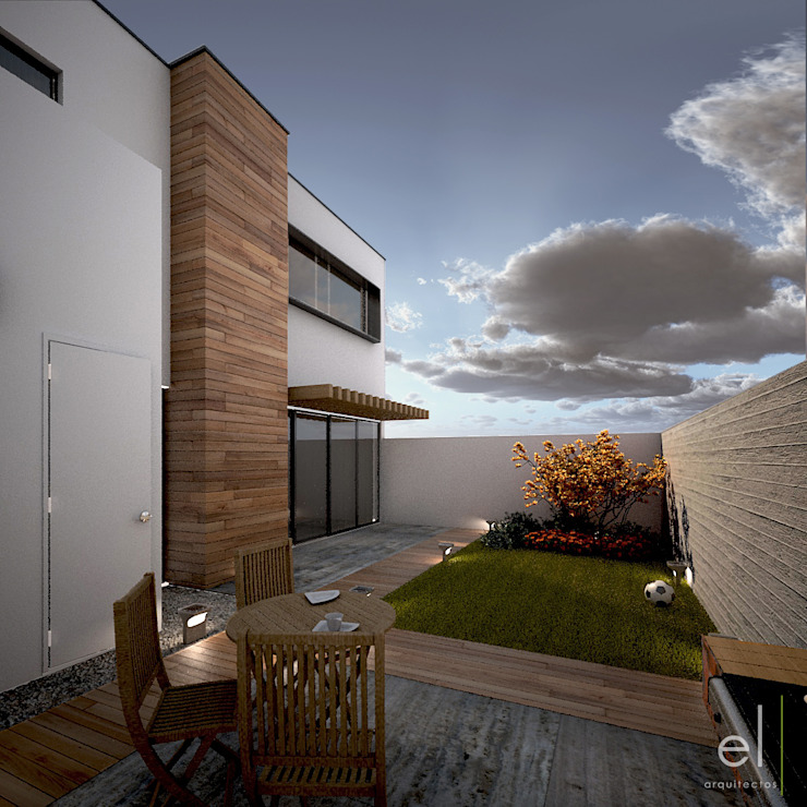 Casa Zibata Casas modernas de ERIKA LIN Moderno Madera Acabado en madera