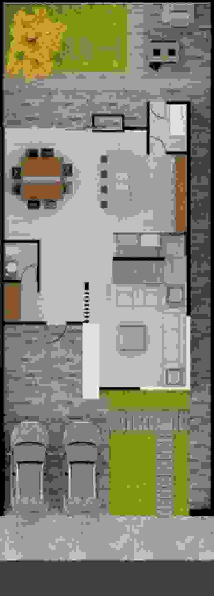 Casa Zibata Casas modernas de ERIKA LIN Moderno Concreto
