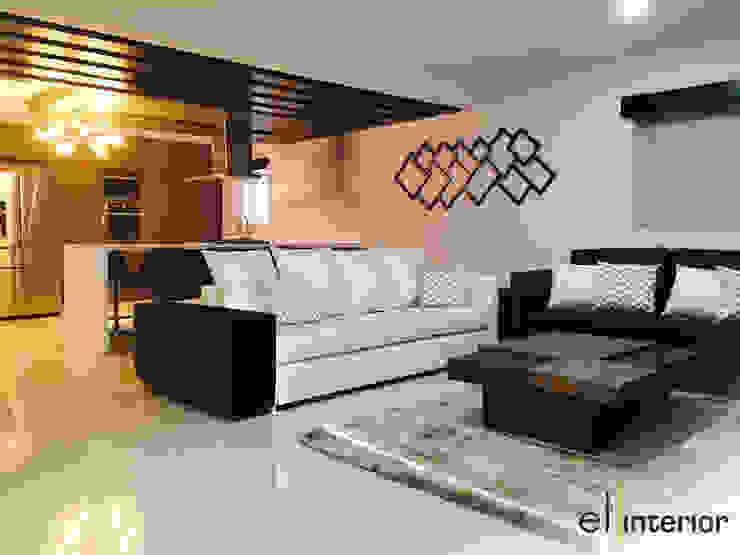 Modern Living Room by el interior Modern Wood Wood effect