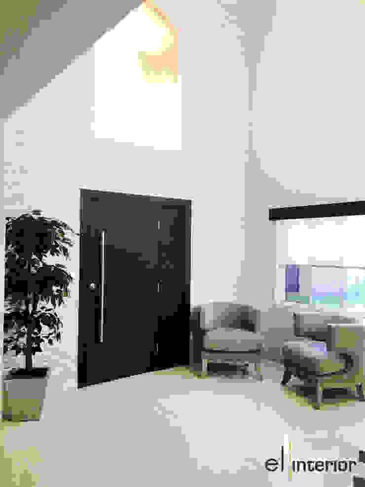 Modern Corridor, Hallway and Staircase by el interior Modern Stone