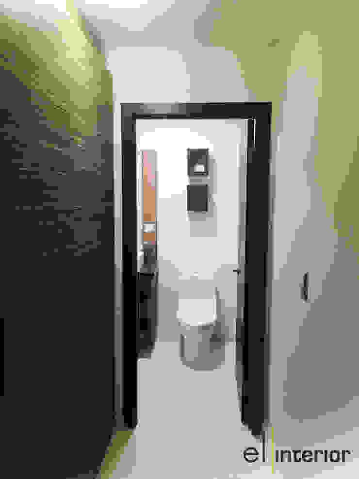 Modern Corridor, Hallway and Staircase by el interior Modern Wood Wood effect