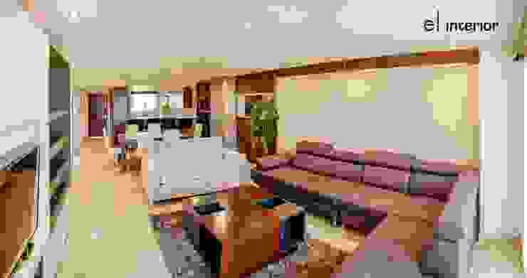 Departamento Quintas del Mar Salones modernos de el interior Moderno Madera Acabado en madera