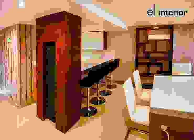 Departamento Quintas del Mar Comedores modernos de el interior Moderno Madera Acabado en madera