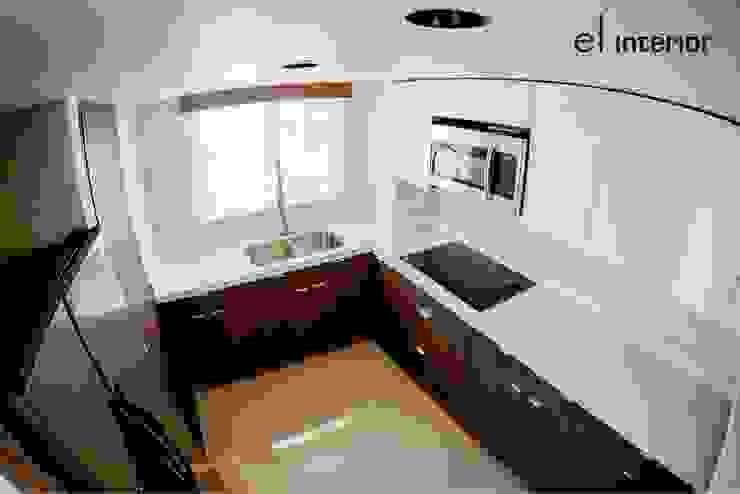 Departamento Quintas del Mar Cocinas modernas de el interior Moderno Madera Acabado en madera
