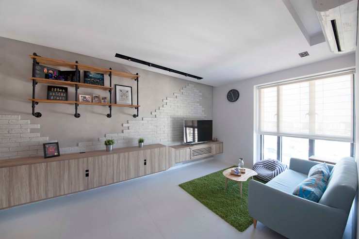 SKYTERRACE @ DAWSON Scandinavian style living room by Eightytwo Pte Ltd Scandinavian