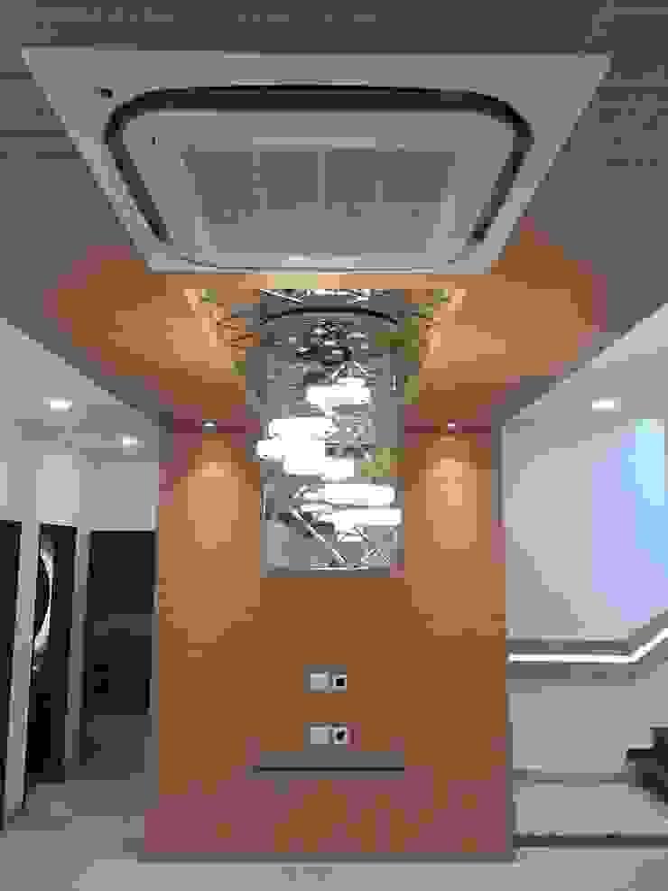 MAGNIFIQUE Salon, Defence Colony, New Delhi: modern  by Centroid Plus,Modern Wood Wood effect