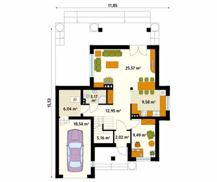 Moderne Wände & Böden von Biuro Projektów MTM Styl - domywstylu.pl Modern