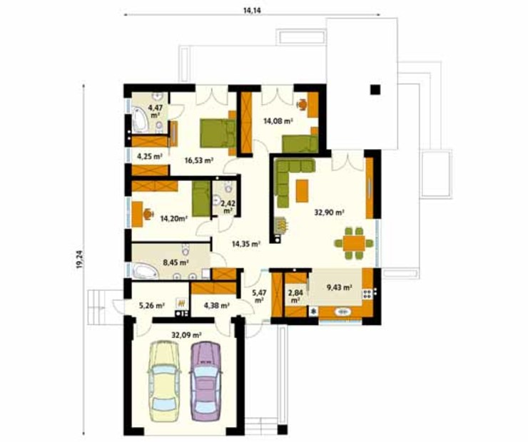 Dinding & Lantai Modern Oleh Biuro Projektów MTM Styl - domywstylu.pl Modern