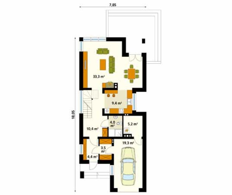 Biuro Projektów MTM Styl - domywstylu.pl Modern Walls and Floors