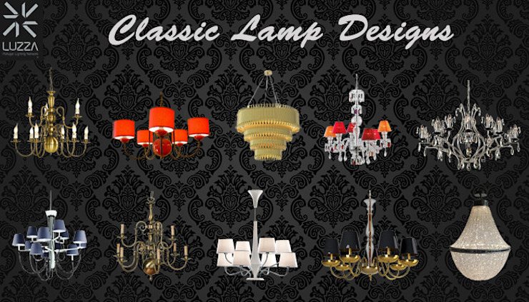 Classic lamp designs por LUZZA by AIPI - Portuguese Lighting Association Moderno