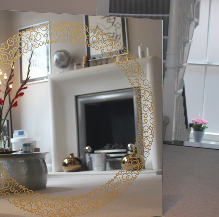Cooper Mirror™ Alguacil & Perkoff Ltd. Living roomAccessories & decoration Glass Metallic/Silver