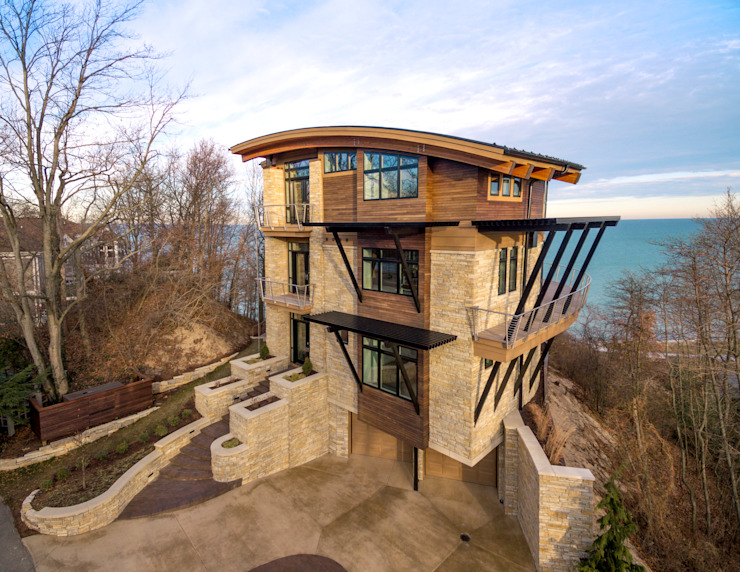 Forest Beach Residence Modern Houses by Allegretti Architects Modern