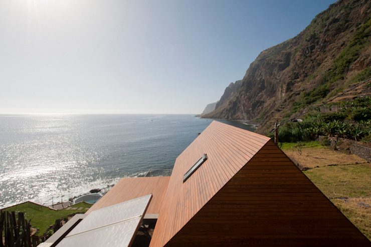 Exterior_Vista mar Hotéis modernos por Mayer & Selders Arquitectura Moderno