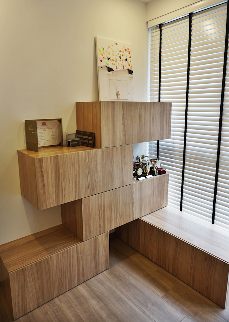 32 BLOSSOM RESIDENCES Scandinavian style living room by Eightytwo Pte Ltd Scandinavian