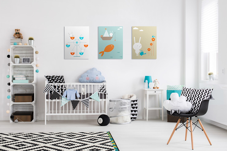 Ferris Wheel Scandinavian style nursery/kids room by Pixers Scandinavian