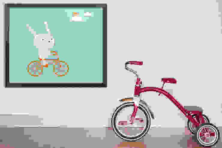 Bunny on a bike Pixers Nursery/kid's room