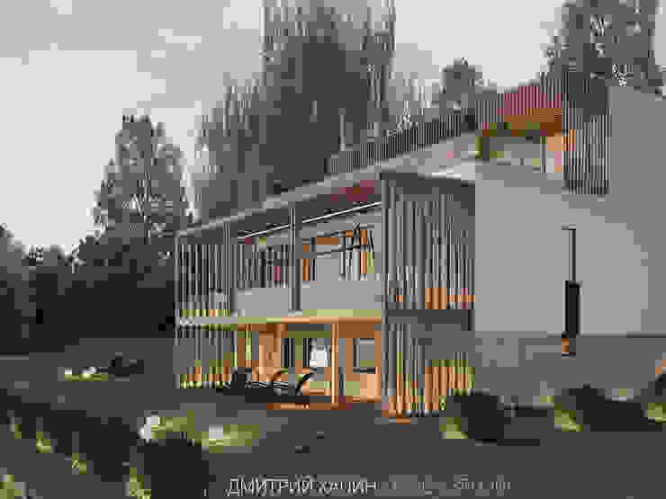 Дом с видом на озеро Дома в стиле минимализм от Dmitriy Khanin Минимализм Изделия из древесины Прозрачный