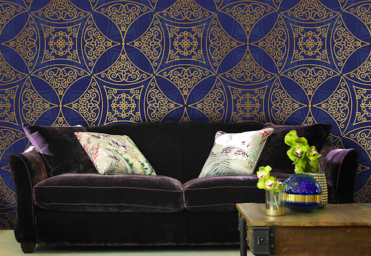 Oriental Pattern Colonial style living room by Pixers Colonial