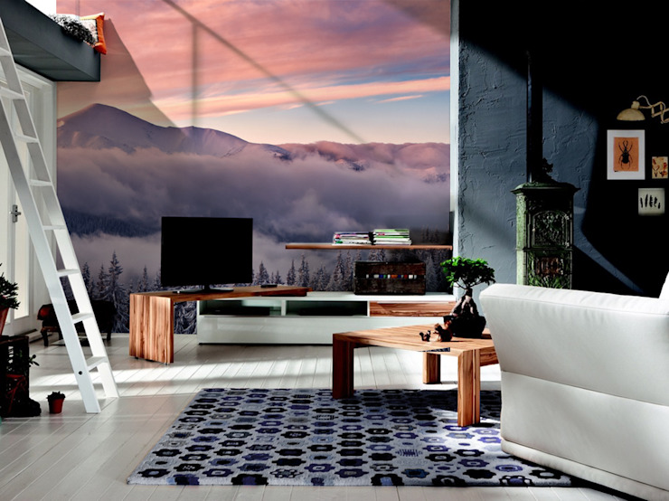 Mountains Pixers Living room Multicolored
