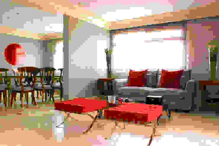 Sala de estar - Depois por Brunete Fraccaroli Arquitetura e Interiores