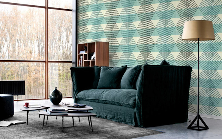 Geometric Diamonds Eclectic style living room by Pixers Eclectic
