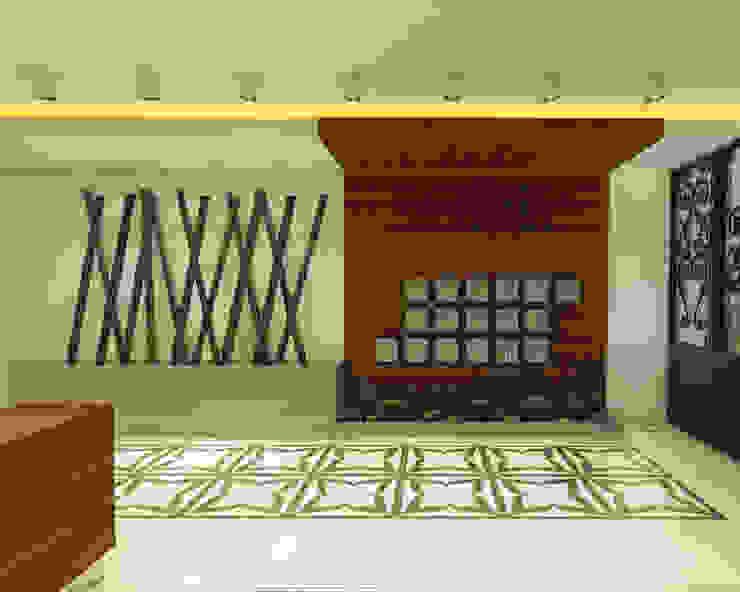 Ofis 352 Mimarlık Hizmetleri Modern Corridor, Hallway and Staircase