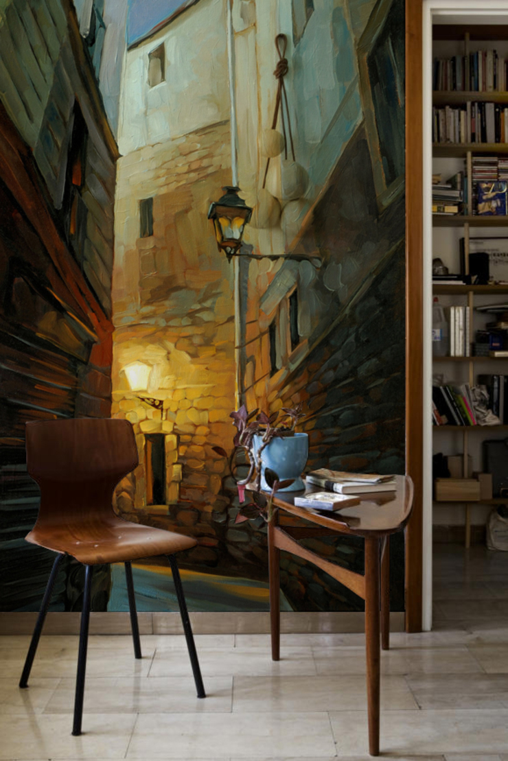 Dark Alley Pixers Eclectic style study/office