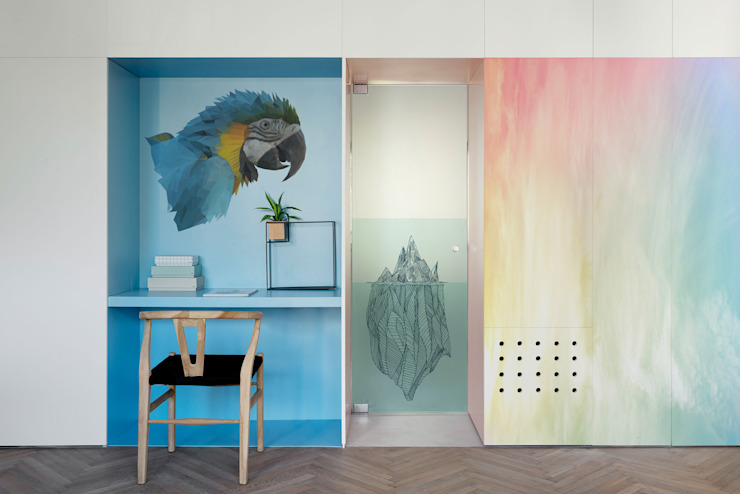 Rainbow Estudios y bibliotecas de estilo minimalista de Pixers Minimalista