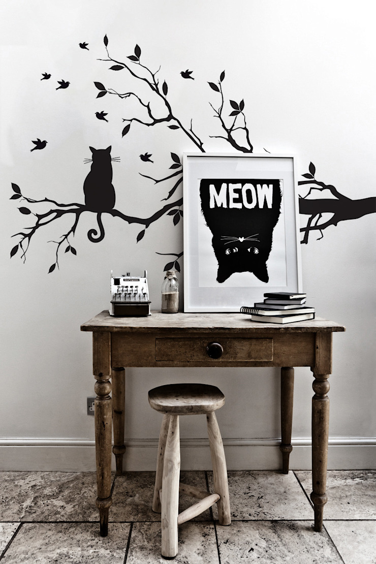 Meow Pixers Eclectic style study/office