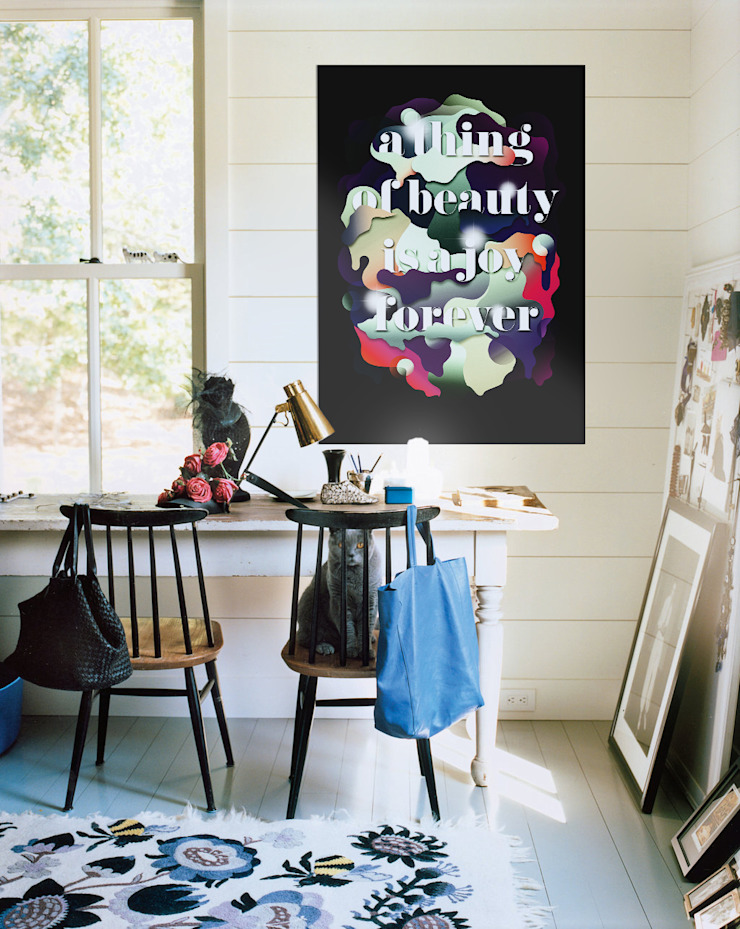 Study idea Pixers Eclectic style study/office