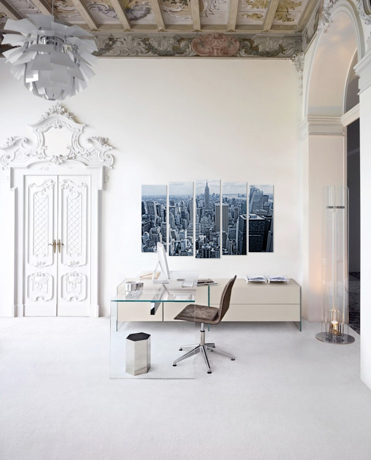 Manhattan Pixers Eclectic style study/office