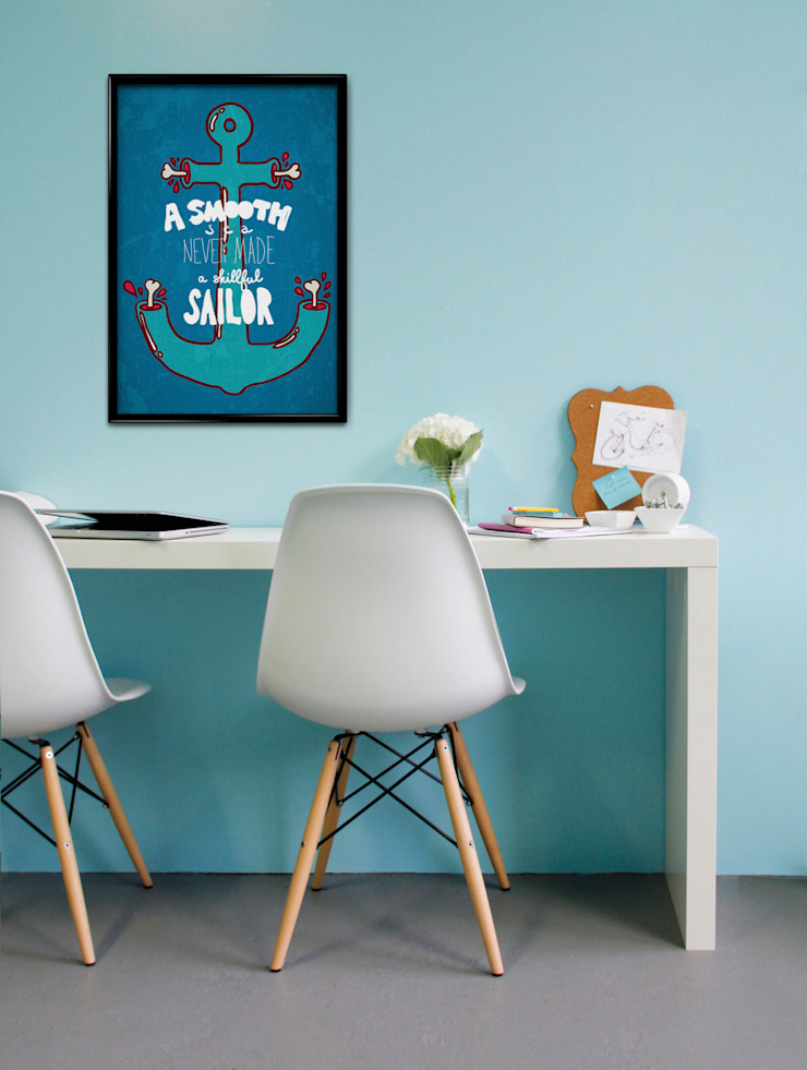 Smooth Sailor Modern Study Room and Home Office by Pixers Modern