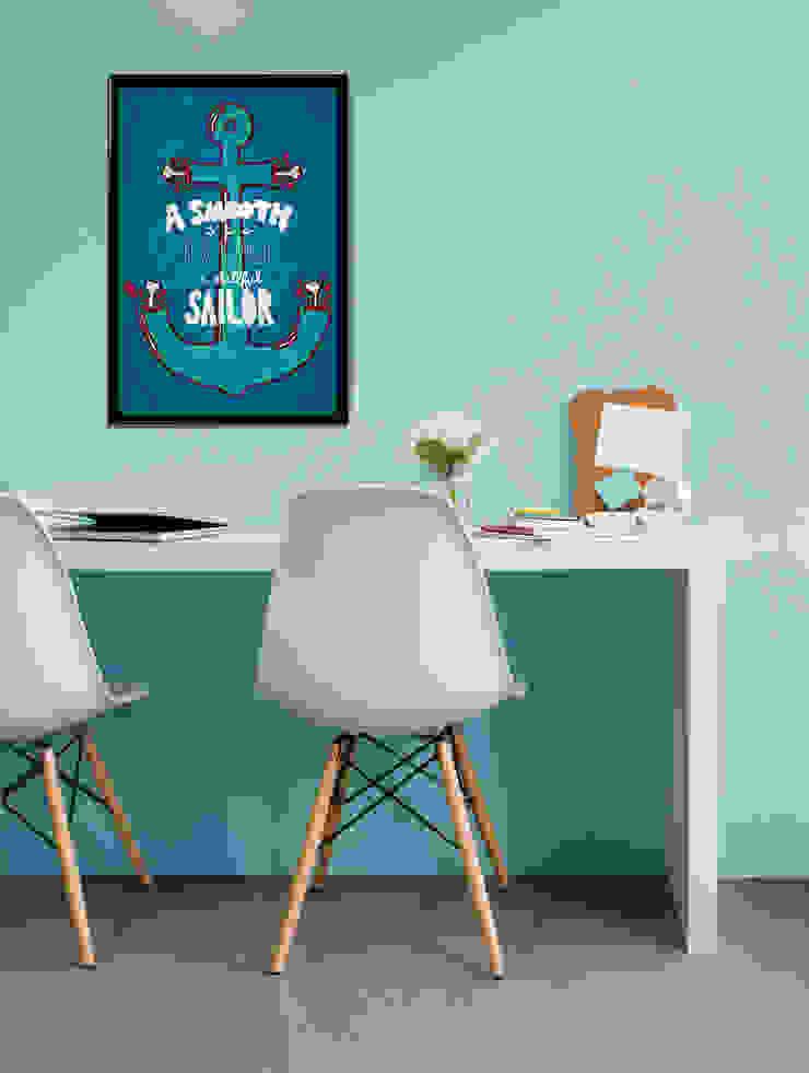 Smooth Sailor Oficinas y bibliotecas de estilo moderno de Pixers Moderno