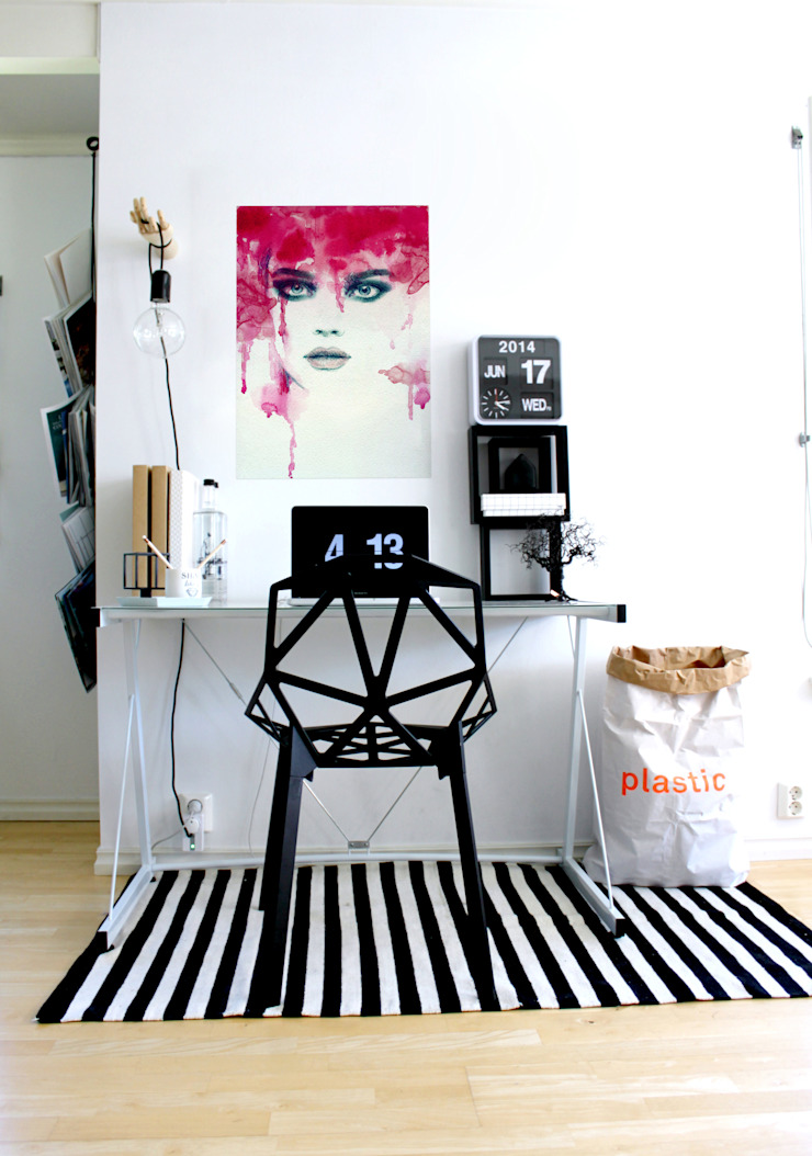 Watercolor Beauty Modern Study Room and Home Office by Pixers Modern