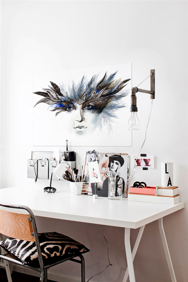 Venetian Mask Modern Study Room and Home Office by Pixers Modern