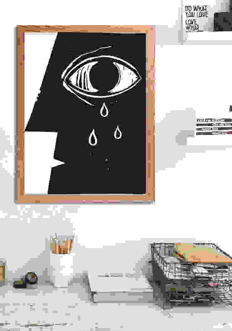 Eye Oficinas y bibliotecas de estilo moderno de Pixers Moderno