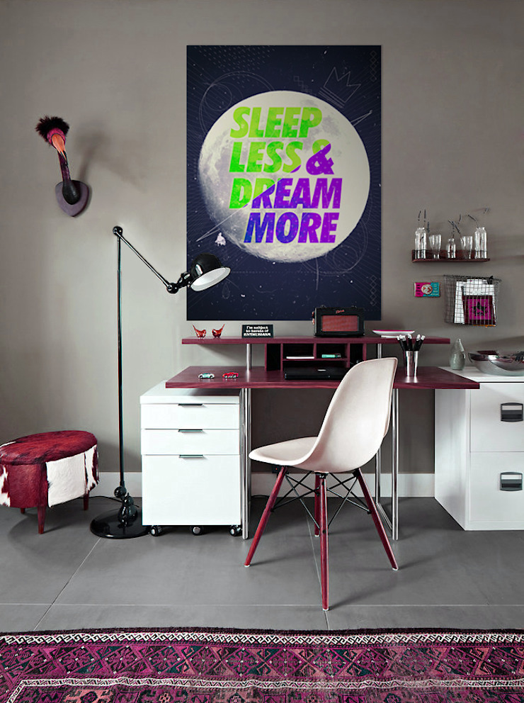 Sleep Less Modern Study Room and Home Office by Pixers Modern