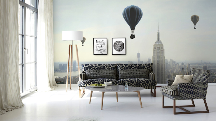 Air Ballon homify Salones escandinavos Gris