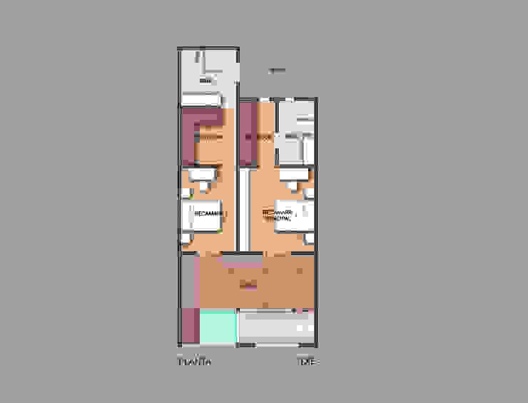 Planta de proyecto de ampliación Casas modernas de ODRACIR Moderno