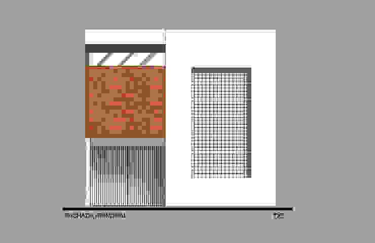 Fachada Principal Casas modernas de ODRACIR Moderno