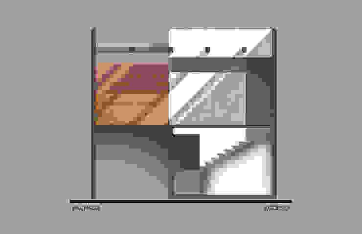 Corte de acceso a patio superior Casas modernas de ODRACIR Moderno