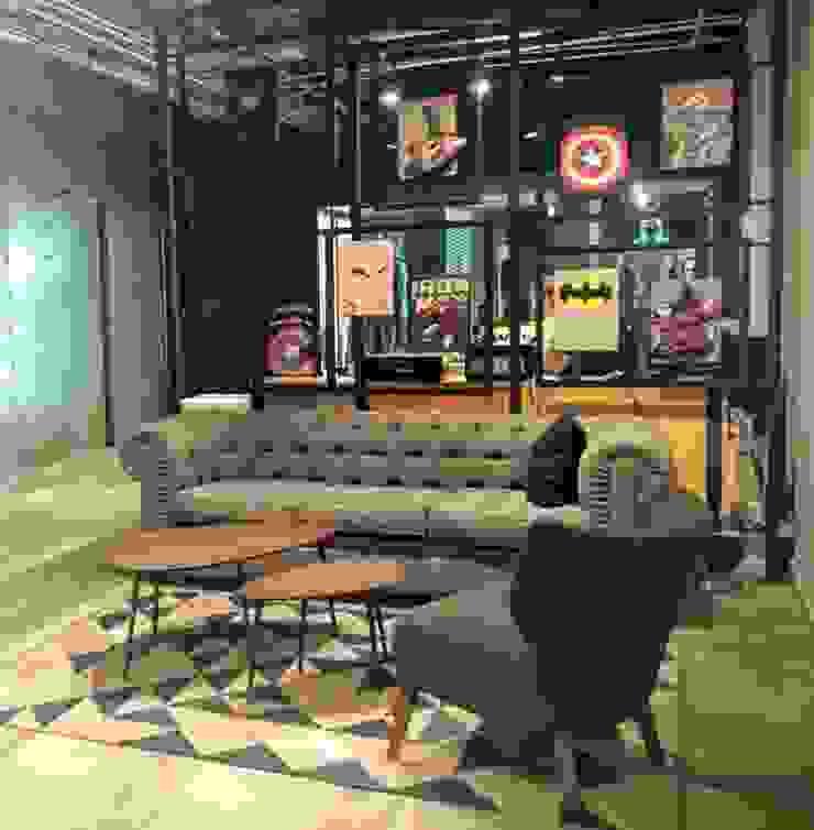 Proyecto de decoración en Cafeterías y bares de Estilo en muebles Clásico Lino Rosa