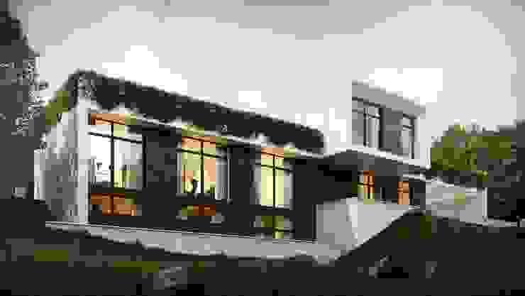 Casas minimalistas por Максим Любецкий Minimalista Betão