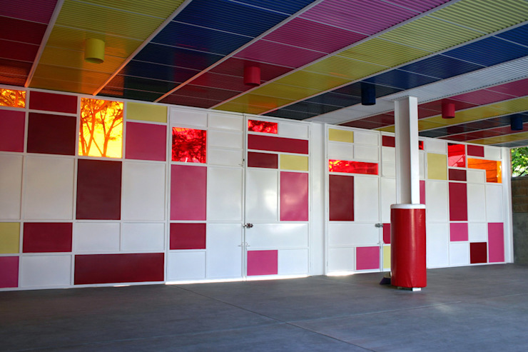 Kinder Kipling Irapuato - VMArquitectura Paredes y pisos de estilo moderno de VMArquitectura Moderno Concreto