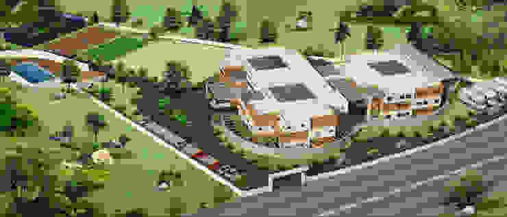 Jain School @ Tirupathi Modern schools by Icarus Architects Modern
