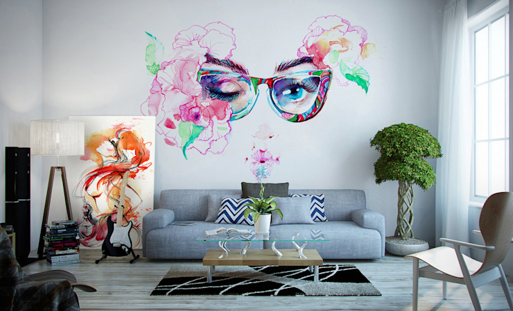 Artistic Living Room Pixers ห้องนั่งเล่น Multicolored