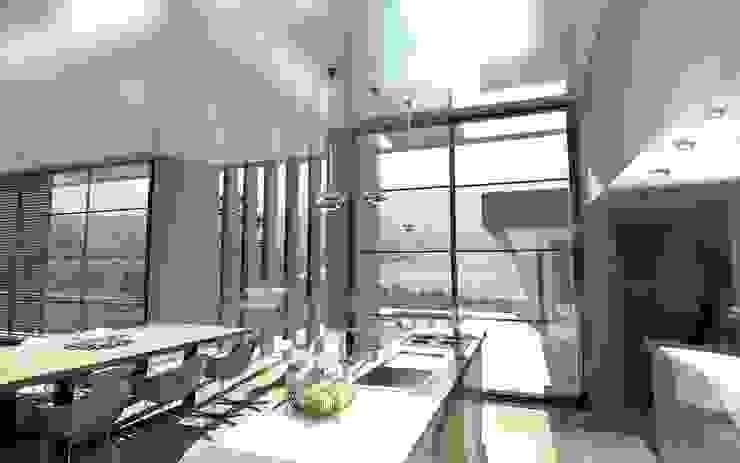 Une villa élégante et unique en son genre Cuisine moderne par Archionline Moderne