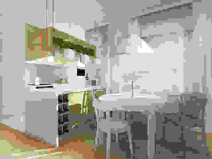 ZAZA studio Scandinavian style dining room Wood White